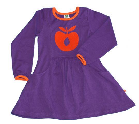 lilla kjole med tryk