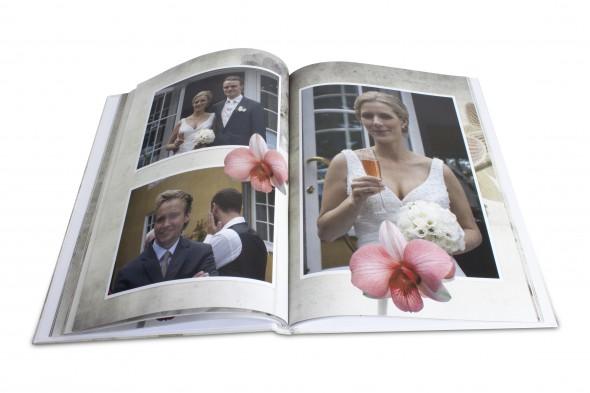 Fotobog med bryllup billeder